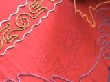 Вышивка сарафана, тамбурный шов крючком.